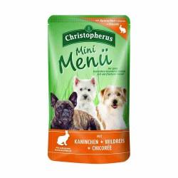 Erwachsener Hund - Mini Menü Kaninchen + Wildreis + Chicorée